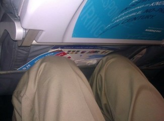 """This is how much leg room you get"" on Spirit - Yelp!"